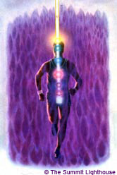 chakra man in Violet Flame